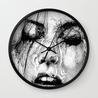 shower Wall Clocks featuring Shower by Nester Formentera