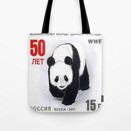 Stamp on Panda Tote Bag