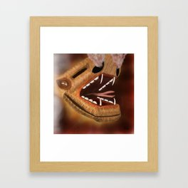 Atttack of the snake dragon Framed Art Print
