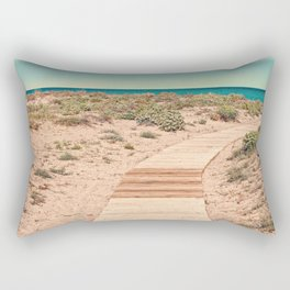 A Beautiful Spring Day at the Beach Rectangular Pillow