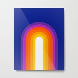 Classic Blue Rainbow Metal Print