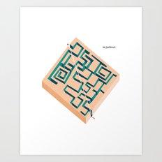 Le Parkour Art Print
