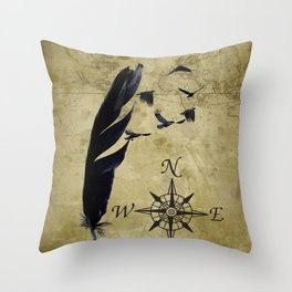 As the Crow Flies A677 Throw Pillow