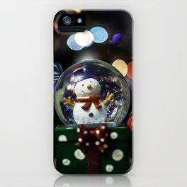 snow sphere iPhone Case