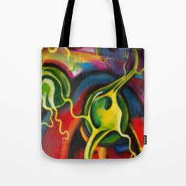 Digital Brain Scan Tote Bag
