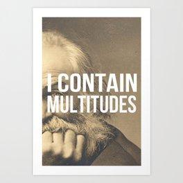 I Contain Multitudes Art Print