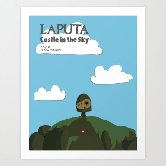 Laputa Castle in the Sky Art Print