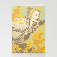 dragon age Stationery Cards featuring Dragon Age: Justice by Sara Cuervo
