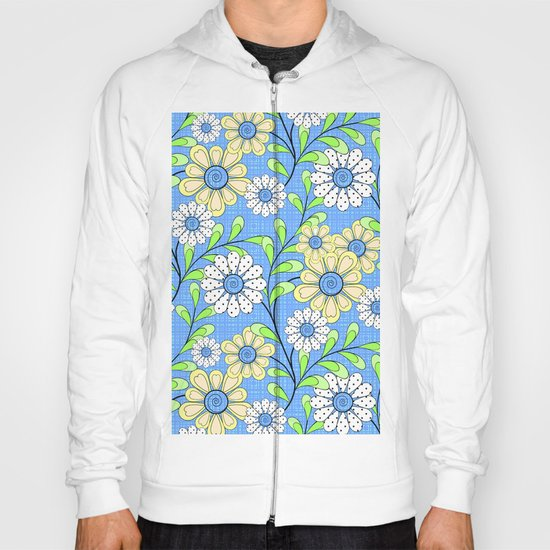 Bright floral pattern. Hoody