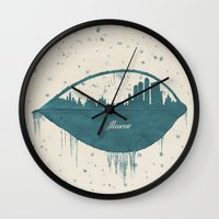 moscow Wall Clocks featuring Frozen Moscow by Paula Belle Flores