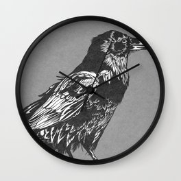 Raven Grey Wall Clock