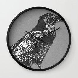 Raven Grey Wall Clock