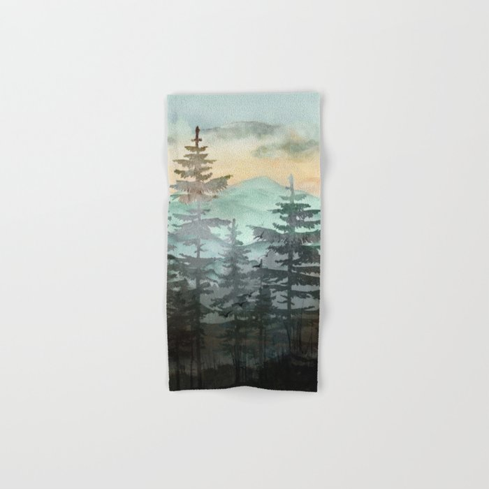 Pine Trees Hand & Bath Towel