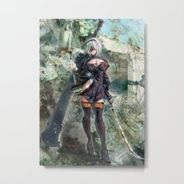 Only The Strong Metal Print
