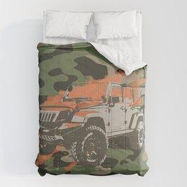 Camo Truck- Military Green Comforters