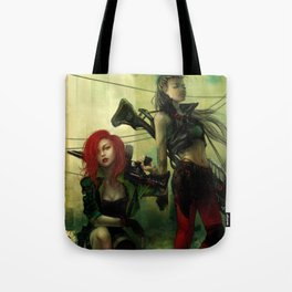 Hot pepper - Sci-fi soldier girls with weapons Tote Bag