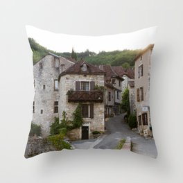 That Village in the French Countryside Throw Pillow
