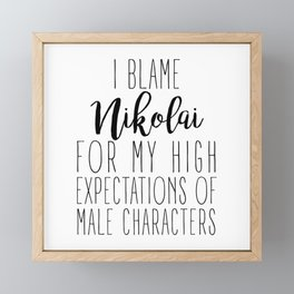 High Expectations - Nikolai Framed Mini Art Print