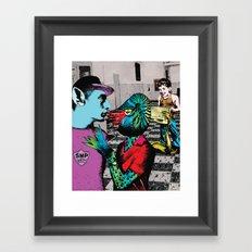 Adrenaline shot Framed Art Print