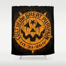 Cult of the Great Pumpkin: Alchemy Logo Shower Curtain