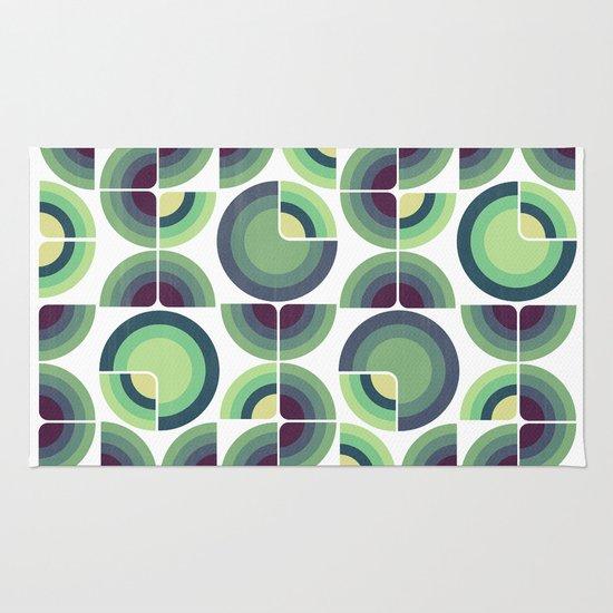 Green Fields Pattern Rug