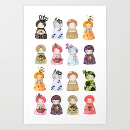 PaperDolls Art Print