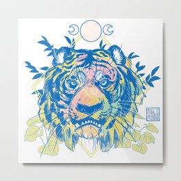 Blue Tiger Cafe Metal Print