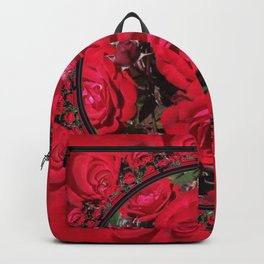 Red Christmas Roses Backpack