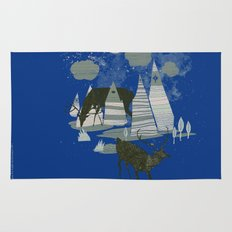 magic mountains Rug