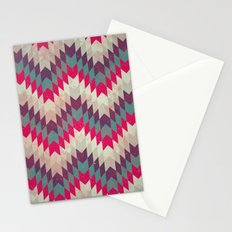 Chevron pattern_purple, blue and pink Stationery Cards