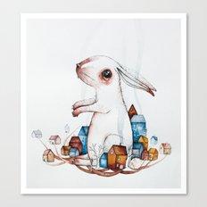 Very big rabbit Canvas Print