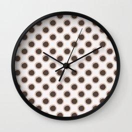 Winter Rustic Polka Dots Lino Cut Texture Sketchy Wall Clock