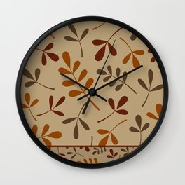 Fall Color Assorted Leaf Silhouettes II Wall Clock
