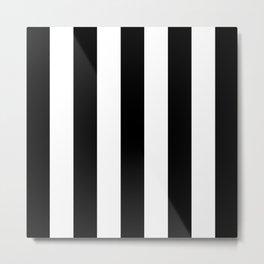 STRIPES - BLACK & WHITE Metal Print