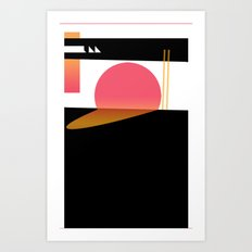 Melting Sun Art Print