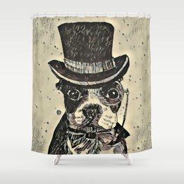 Aristocratic dog Shower Curtain