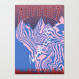 Alpe D'Huez Cycling Artwork Canvas Print
