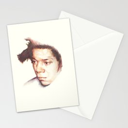 Jean-Michel Basquiat, the radiant one. Stationery Cards