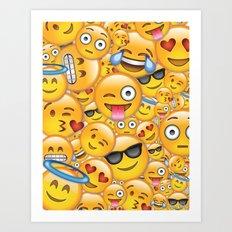 Smiley galore Art Print