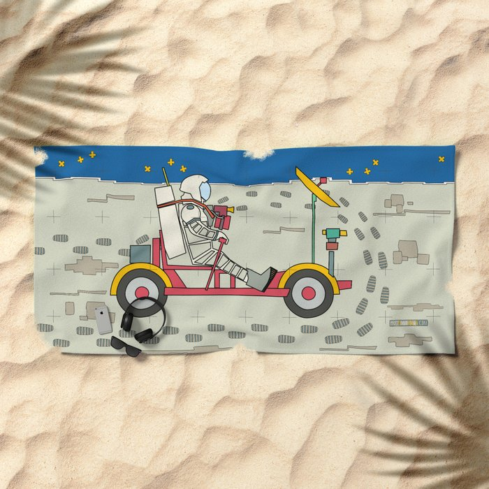 Moon Rover 1969 Beach Towel