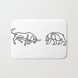 Bull vs Bear Bath Mat