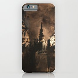 Victor Hugo - Fantastic Castle at Twilight iPhone Case