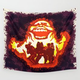 Pumpkin carving Ghost Busters  Wall Tapestry