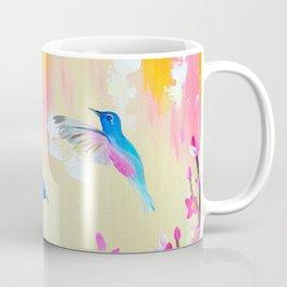 Hummingbirds with pink and yellow Coffee Mug