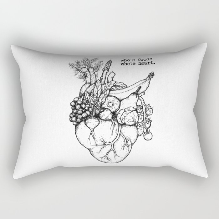 Whole foods, whole heart Rectangular Pillow