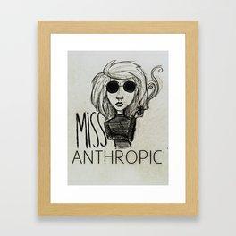 Ms.Anthropic Framed Art Print