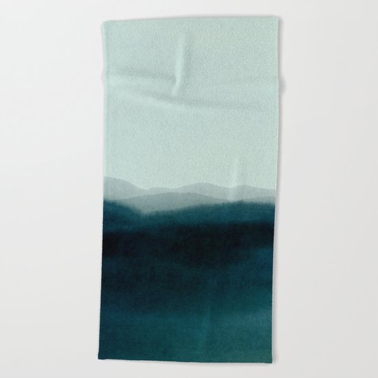 morning mist scenery Beach Towel
