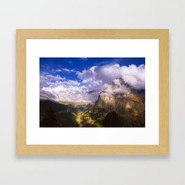 Good Evening in the Alps Framed Art Print