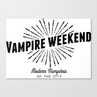 modern vampires of art history Canvas Prints featuring Vampire Weekend // Modern Vampires of the City by alquimie