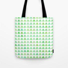 evergreen geometric pattern Tote Bag